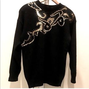 Embroiled Sweater Wool Pullovers excellent c…